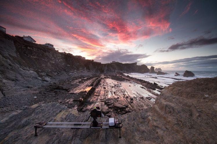 Timelapse en la Playa de la Arnia, en Liencres, con slider robotizado.