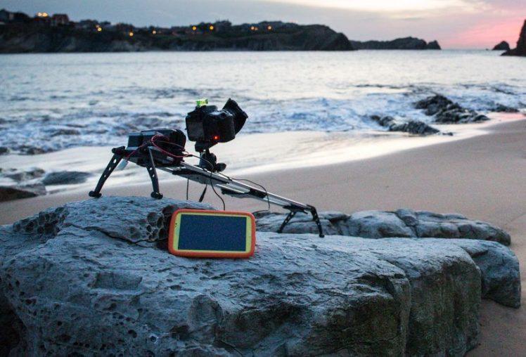Timelapse en la Playa de Portio en Liencres (Cantabria), con slider robotizado.