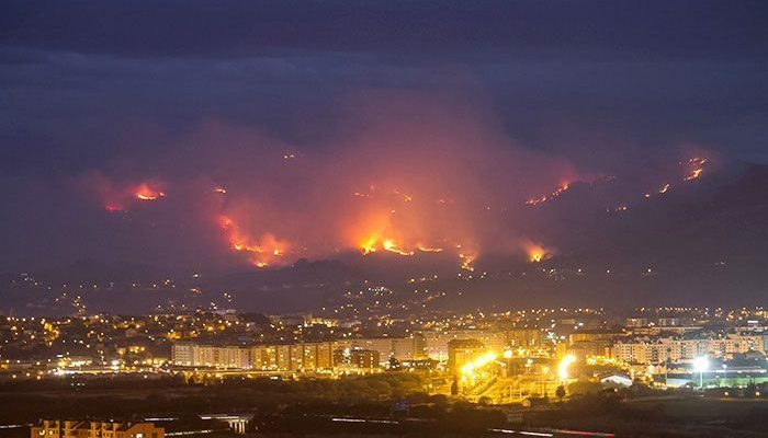 Incendio Forestal Santander Cantabria diciembre 2015