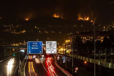 Incendio Incendios Forestal Santander Cantabria diciembre 2015