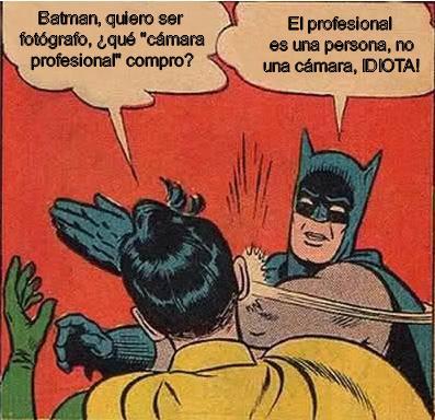 meme Batman fotografo profesional