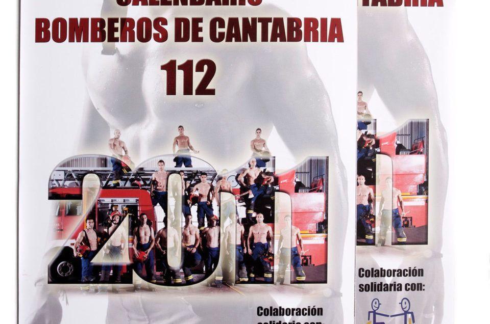 Portada Calendario Bomberos 112 Cantabria