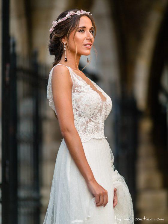 vestido de novia de la tienda alma de boda de santander