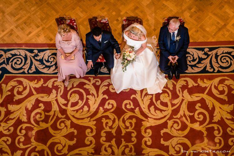 Matrimonio cansándose en el Palacio de la Magdalena de Santander