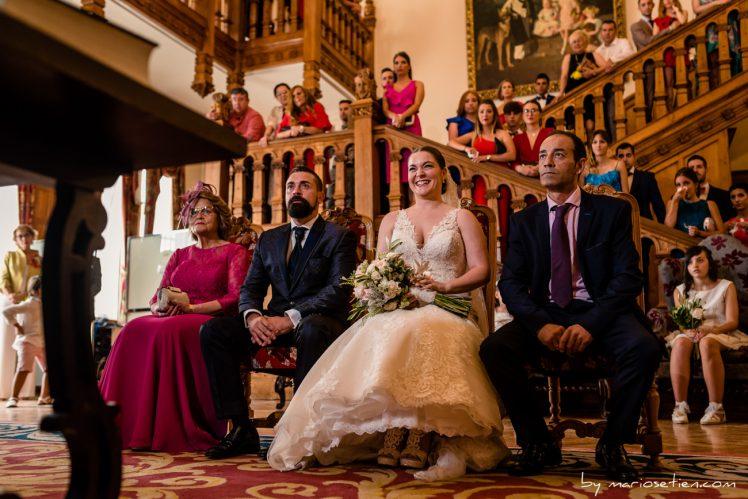 Momento divertido durante una ceremonia civil en el Palacio de la Magdalena