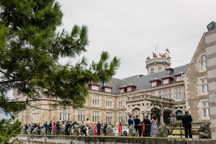 Fachada norte del Palacio de la Magdalena de Santander