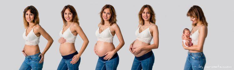 Fotos de seguimiento fotográfico de una embarazada