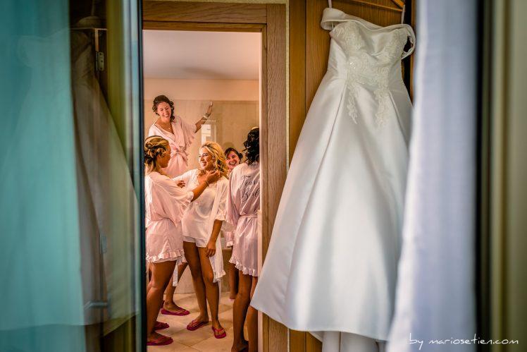 Preparativos de una novia en el Gran Hotel Sardinero
