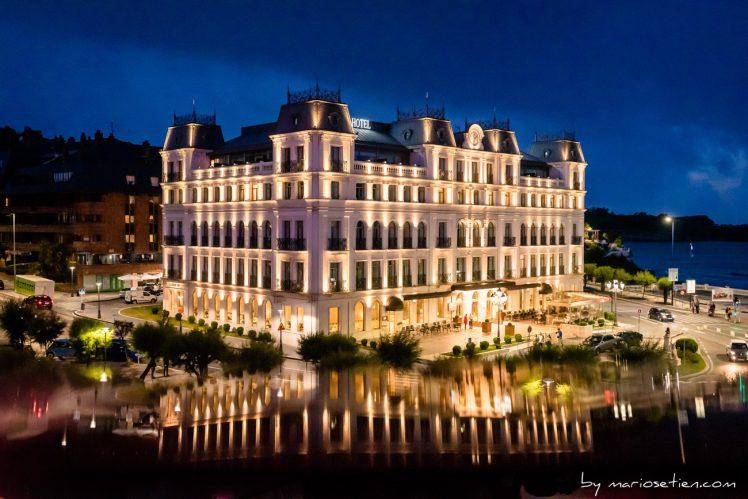 Vista del Gran Hotel Sardinero desde El Casino de Santander