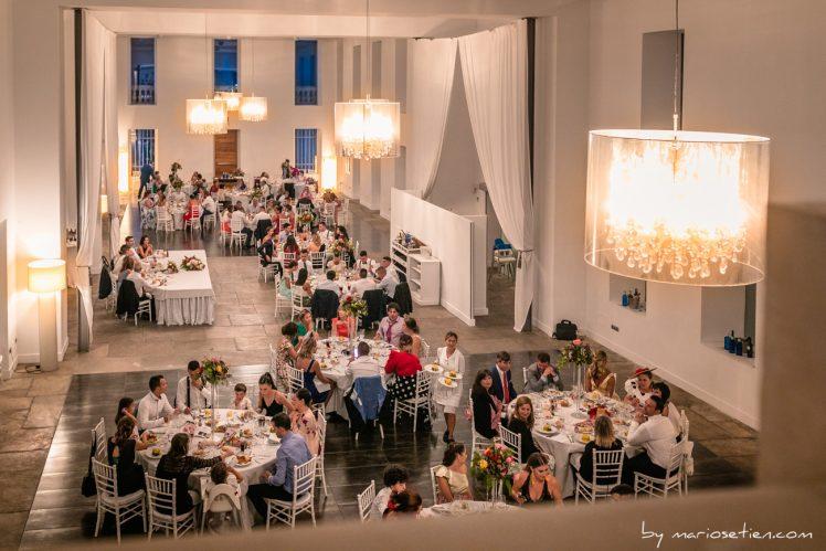Vista superior del Comedor de la Casona de las Fraguas en plena boda