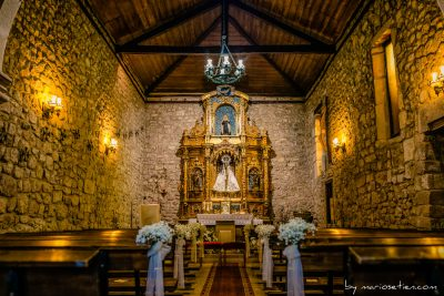 Interior de la Ermita de Nuestra Señora del Carmen en Las Fraguas (Cantabria)