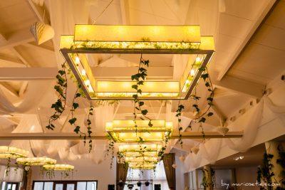 Lámparas del interior del comedor del Palacio