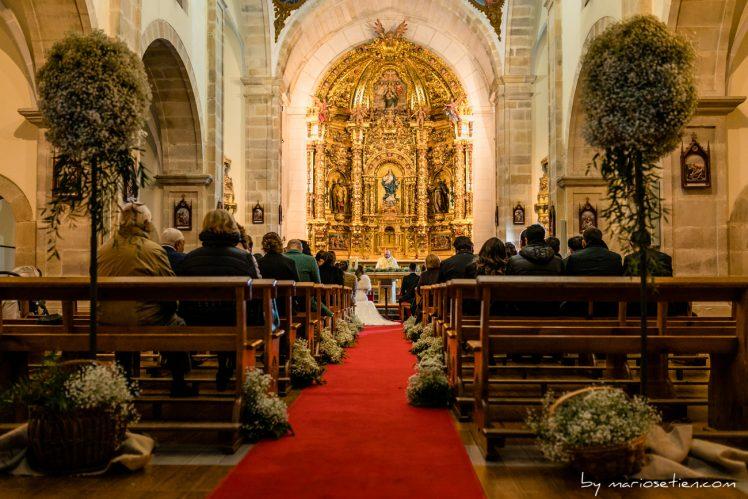 Iglesia de los Escolapios en Villacarriedo en una boda