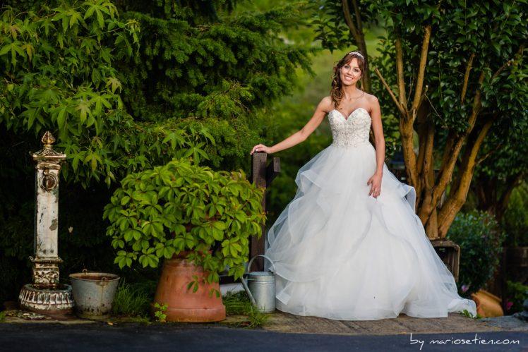 Sarita el día de su boda en la finca Rovallines