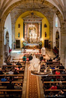 Interior del Santuario de la Barquera en San Vicente de la Barquera
