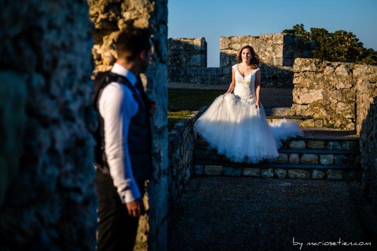 Terraza dentro del fuerte en El Torco en Suances lugar donde se hacen las bodas civiles