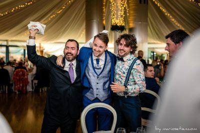 Momentos muy animados durante una boda en Suances