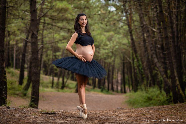 bailarina embarazada en Liencres